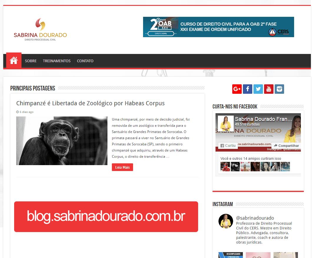 Blog da Professora Sabrina Dourado
